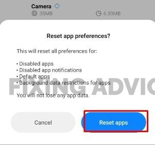 Resetting The App Preferences