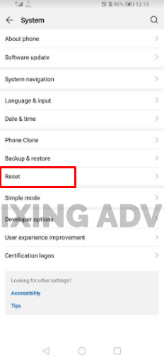Do Factory Reset of Your Android Phone
