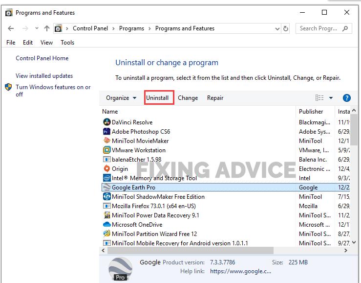 How to Fix Google Earth Installation Error 1603 Windows 10