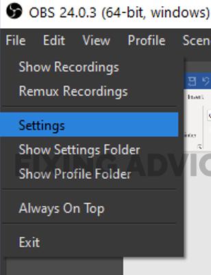 Method 6- Tweak Some Settings on Obs