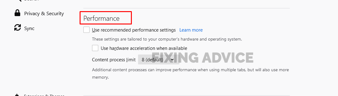Method 7- Disable Hardware Acceleration