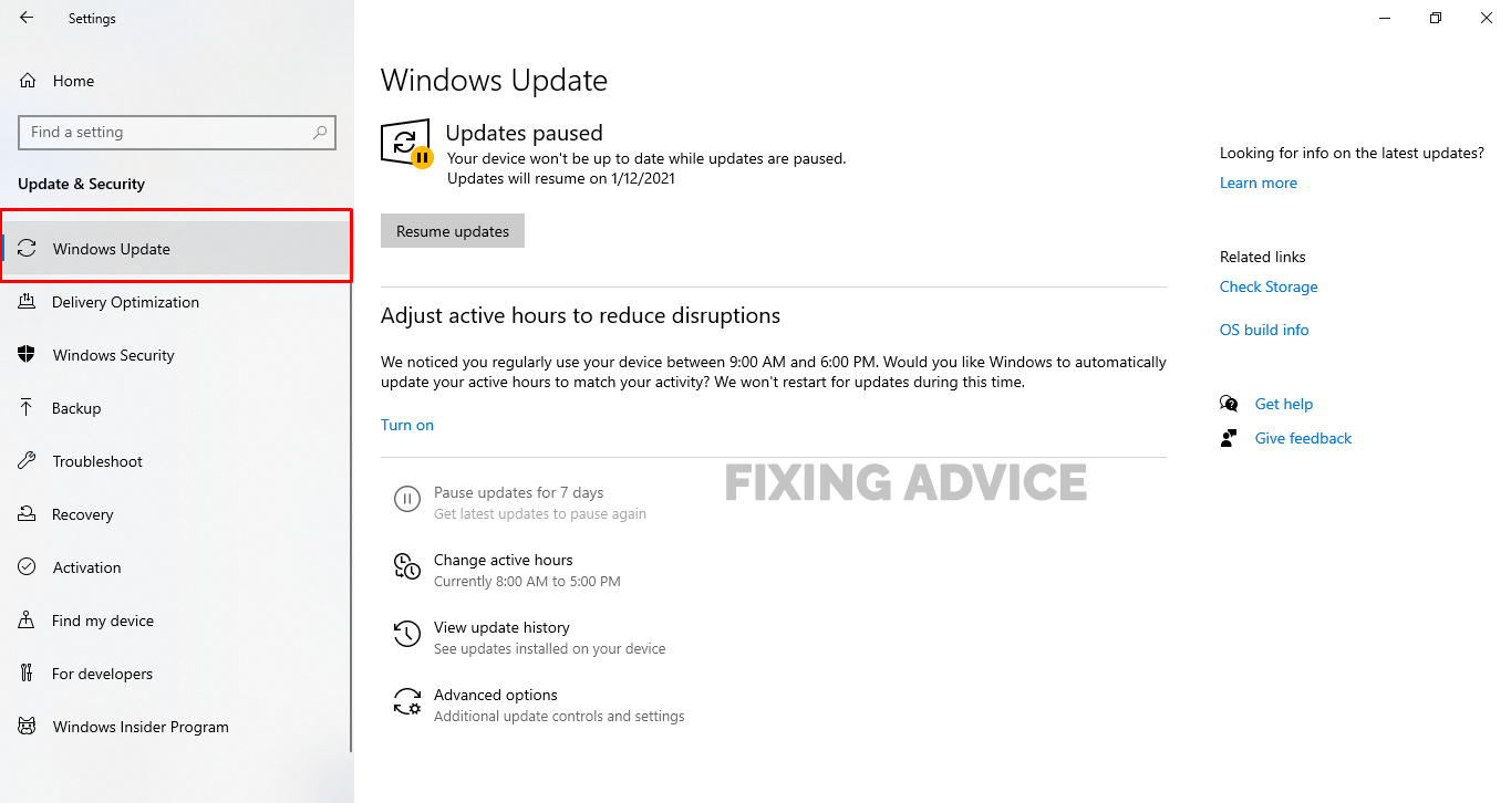 Try to Update Your Windows System