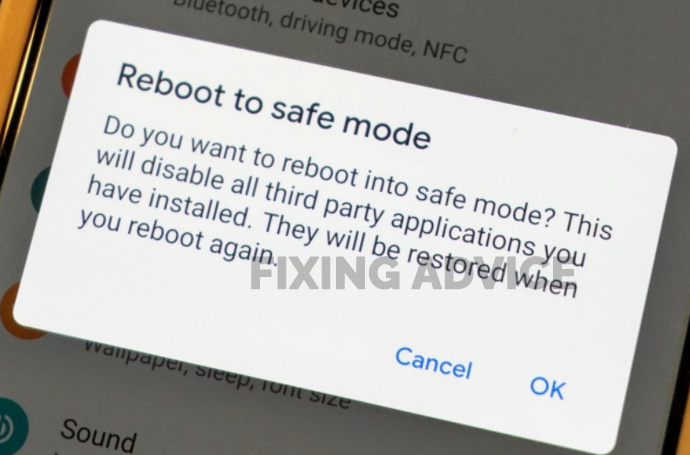 Reboot in Safe Mode