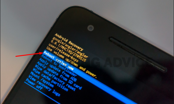 Rebooting the Android Device