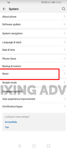 Reset Your Network Settings