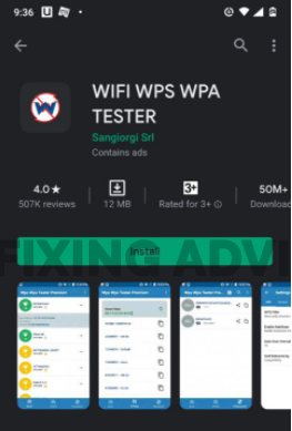 Show Password with WiFi WPS WPA Tester