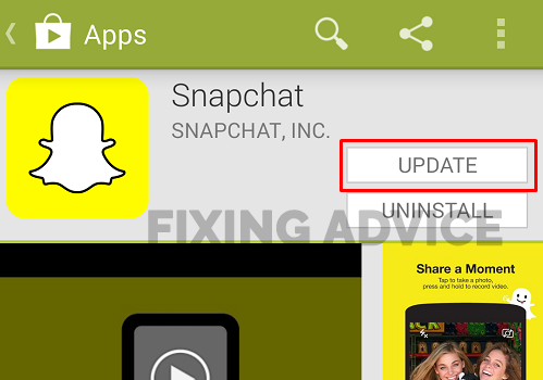 Update Your Snapchat