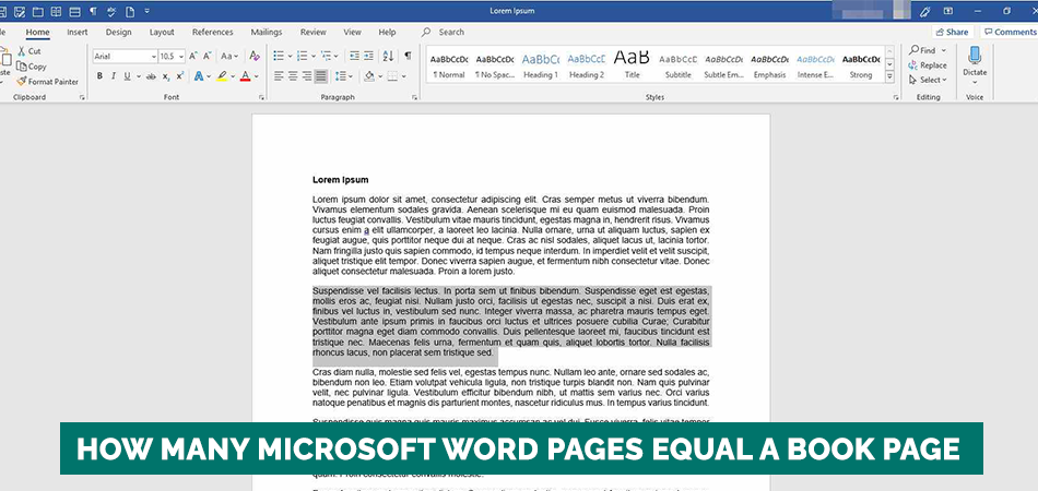 How Many Microsoft Word Pages Equal A Book Page