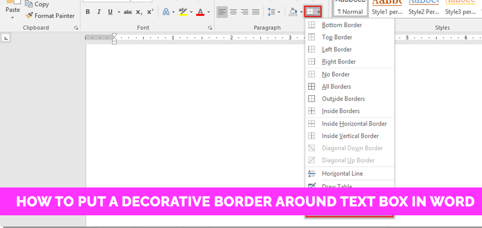 How to Put a Decorative Border Around Text Box in Word
