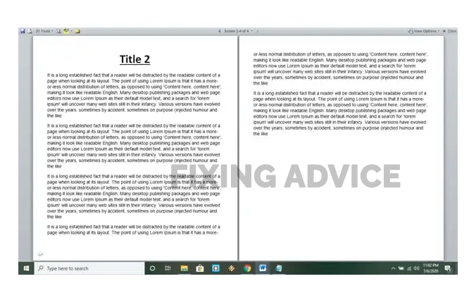 How To Make 2 Pages In 1 Page Of The Word