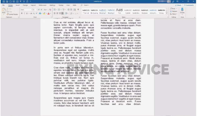 How To Split A Page In Word Vertically