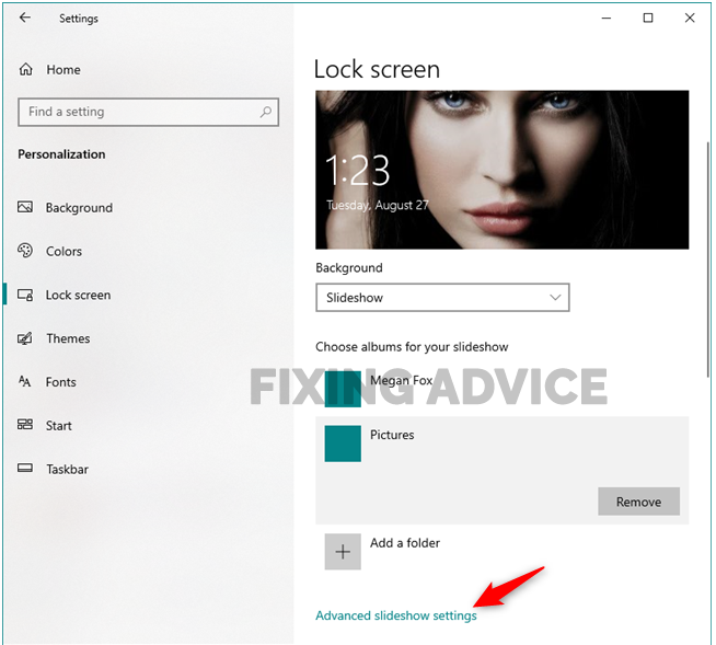 Use Multiple Images To Create A Slide On The Lock Screen