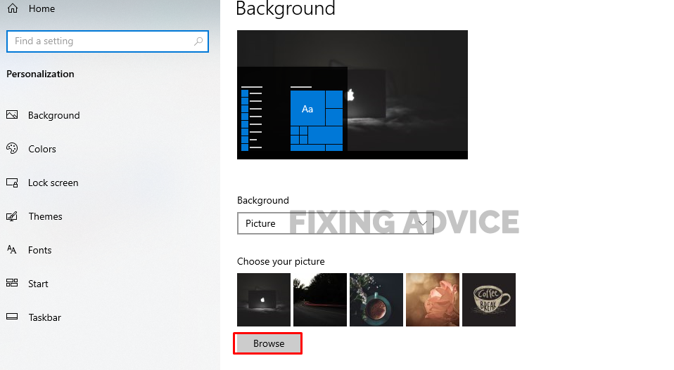 Use Pictures for the Lock Screen in Windows 10