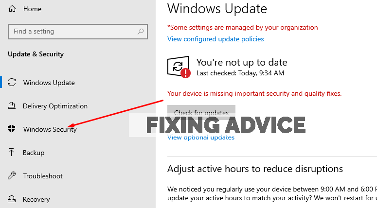 press on the windows security option to Configure Firewall