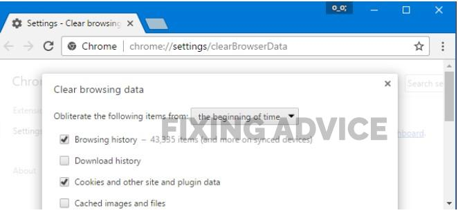 Clear all browsing history