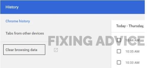 Delete Data from Google Chrome