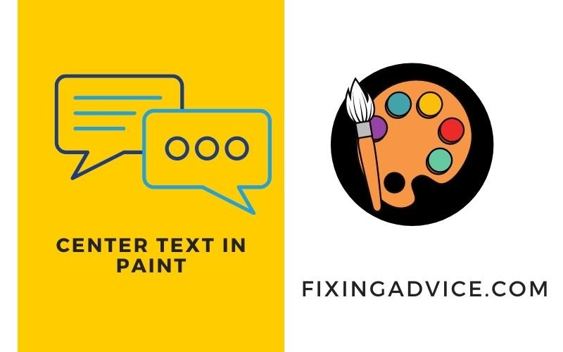 how to center text in paint
