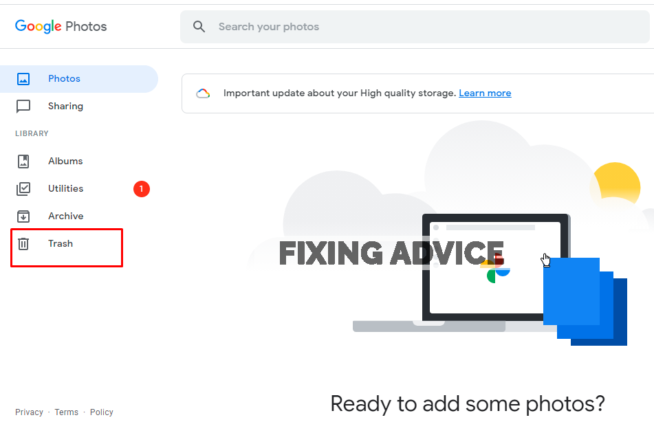 Restore Deleted Videos From Google Photos