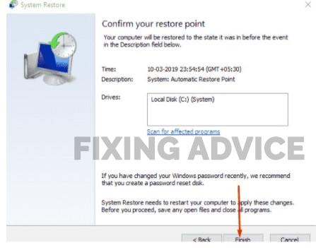 Restore Settings to Changes Before Error Code 1
