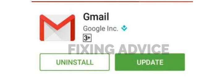Update Your Gmail Application  to Fix Unfortunately Email Has Stopped Error on Android