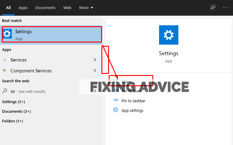go to settings to turn off windows firewall