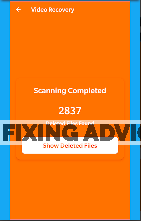 scan for deleted files on Android Data Recovery app