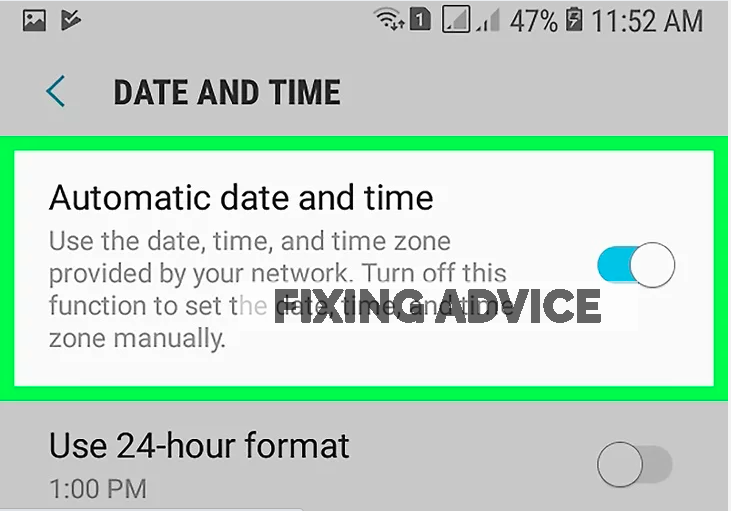 Check Date & Time to fix instagram unknown error