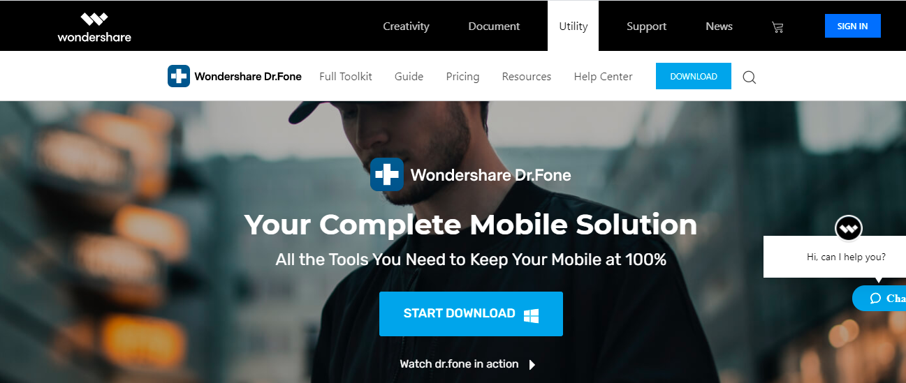 download Dr. Fone Recovery Tool to unlock phone
