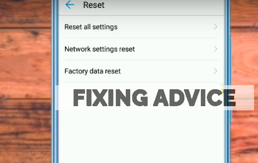 factory data reset to fix Unfortunately Facebook Has Stopped