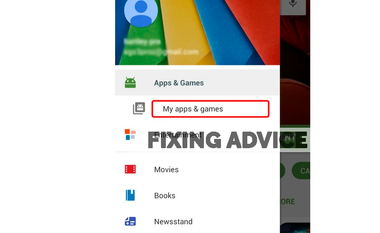 go to My Apps & Games to fix Unfortunately Facebook Has Stopped