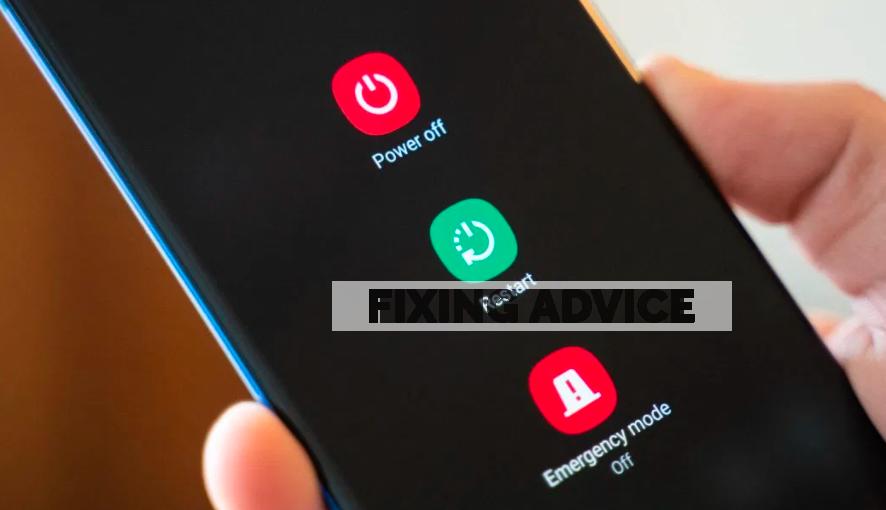 restart phone to Fix Samsung Black Screen of Death