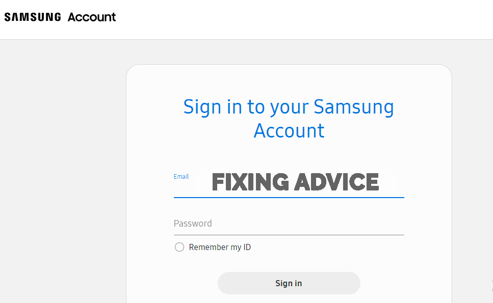 sign in to your samsung account to Unlock Android with Find my Phone Option